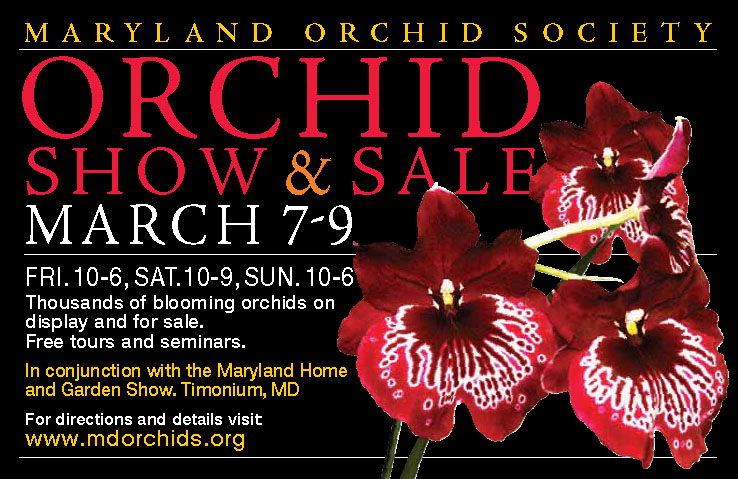 The 2014 Maryland Orchid Society Show and Sale